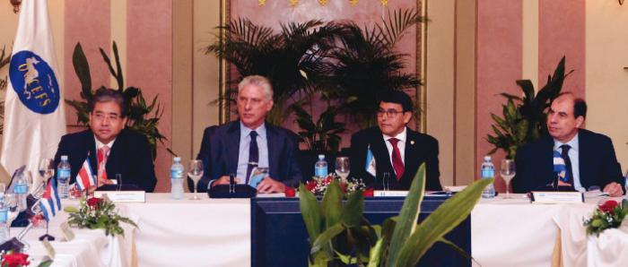 El evento se desarrolla en medio de un panorama de hostilidad creciente del imperio que no nos detiene en nuestros anhelos de los programas de educación y de desarrollo del país, expresó Díaz-Canel .