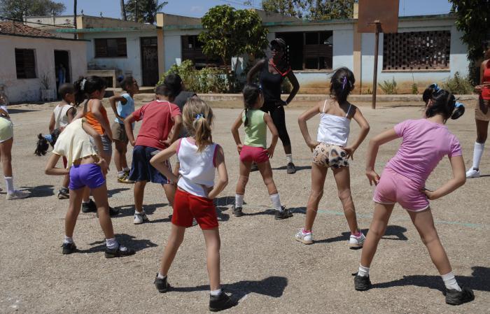 Las clases de Educación Física han de recuperar la preferencia de los alumnos. Foto archivo de Granma