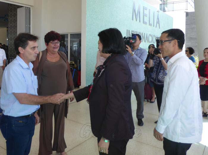 Mario Sabines, vicepresidente de la Asamblea provincial del Poder Popular, le dio la bienvenida en el Hotel Internacional.