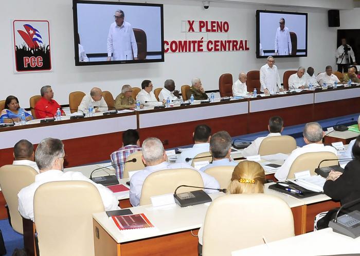Sesionó X Pleno del Partido Comunista de Cuba