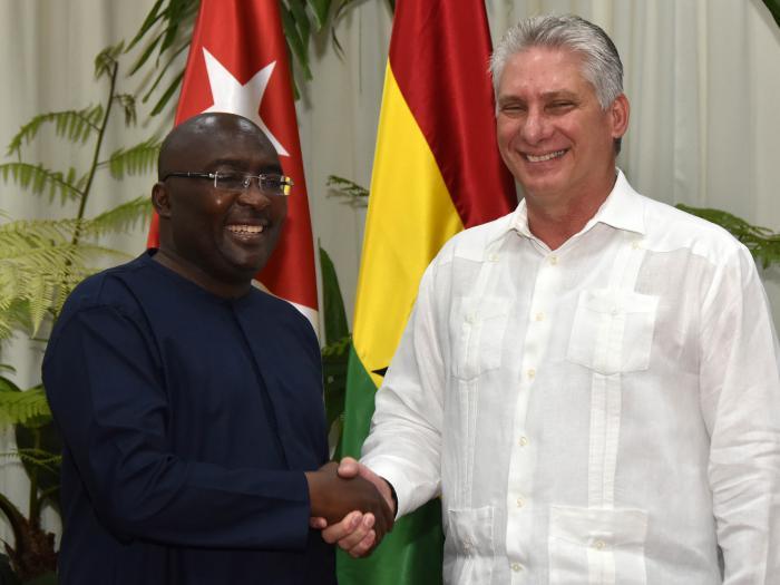 Díaz-Canel recibe al Vicepresidente de Ghana