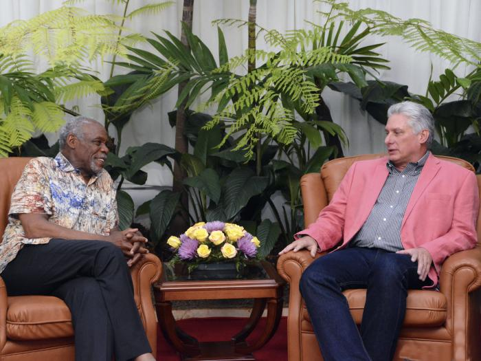 Diaz-Canel received actor Danny Glover