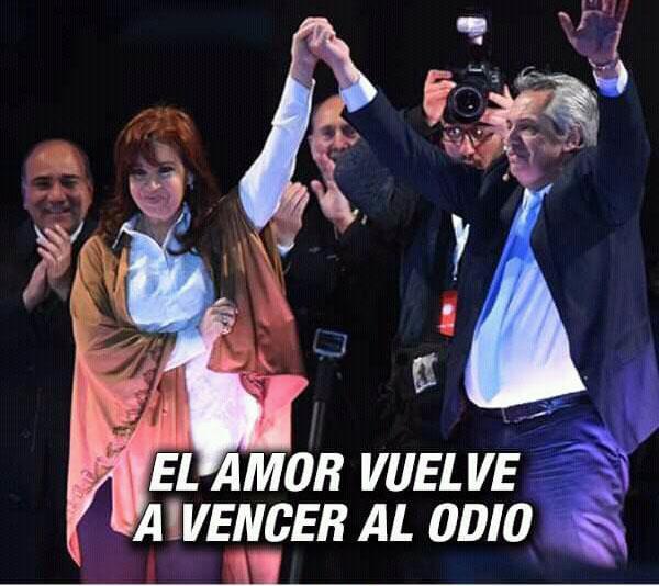 La fórmula Fernández-Fernández derrotó en las elecciones a candidatos al actual presidente Mauricio Macri.