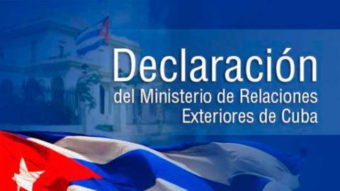 Declaración de @CubaMINREX