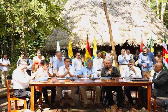 Pacto en defensa de la Amazonía firmado en Colombia incluye
