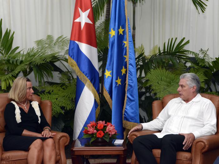 Diaz-Canel welcomed EU High Representative for Foreign Affairs