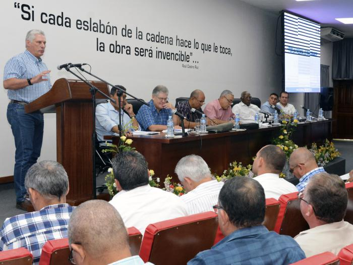 Llama Díaz-Canel a socializar mejores experiencias en la actual situación que vive Cuba