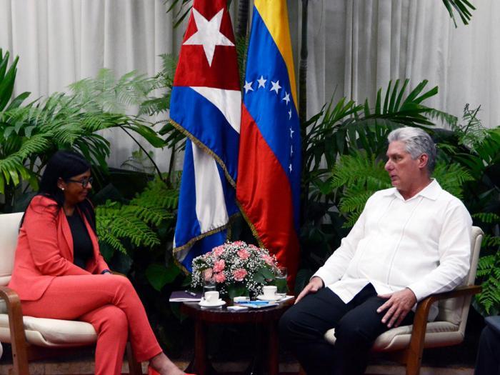 Diaz-Canel receives Venezuelan Executive Vice President