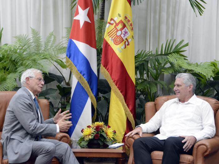 Diaz-Canel y rey de España.