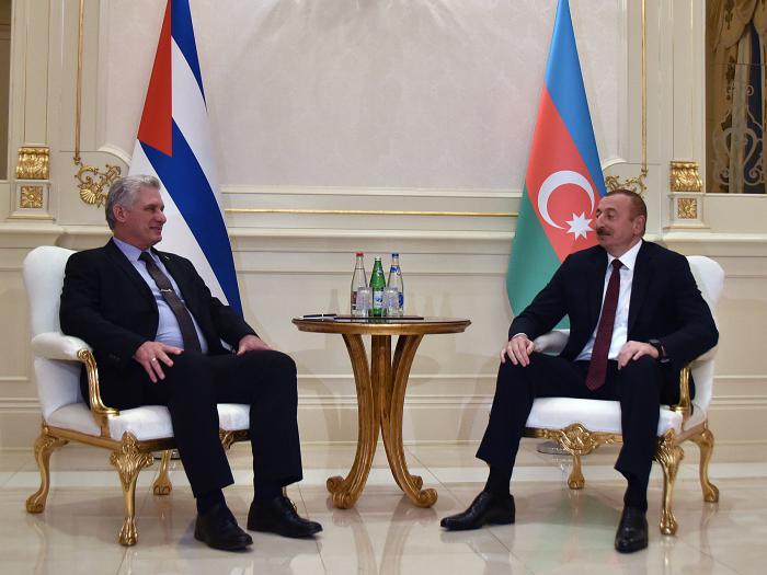 Fraternal intercambio entre Presidente de Cuba y su homólogo de Azerbaiyán (+ Fotos)