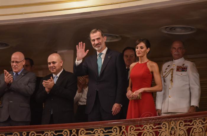 Monarcas españoles asisten a gala artística en la capital cubana (+Fotos)