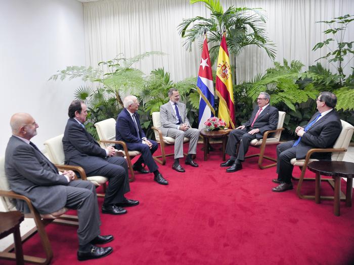 Su Majestad el Rey de España realiza visita de cortesía a Raúl