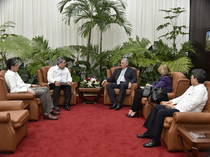 Diaz-Canel received Executive President of the Central American Bank for Economic Integration