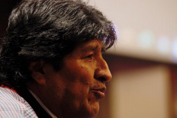 El presidente en exilio de Bolivia, Evo Morales durante conferencia de prensa el pasado 20 de noviembre de 2019. Foto Cristina Rodríguez