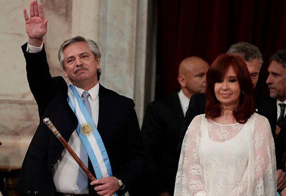 Con un llamado a la unidad de los argentinos comienza su Gobierno Alberto Fernández (+ Fotos)