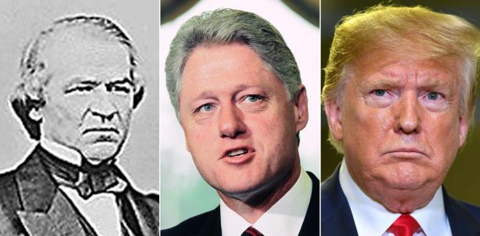 Andrew Johnson y Bill Clinton tuvieron un proceso político similar.