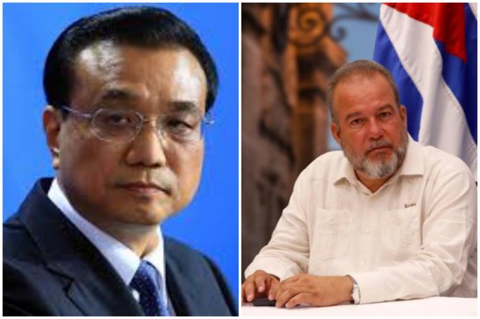 Felicita Primer Ministro chino a su homólogo cubano Manuel Marrero