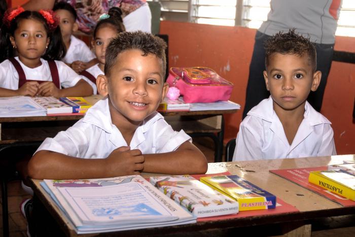 Inicio del curso escolar 2018-2019 en la escuela Coronel Martín Marrero del Reparto Naroca, Boyeros.