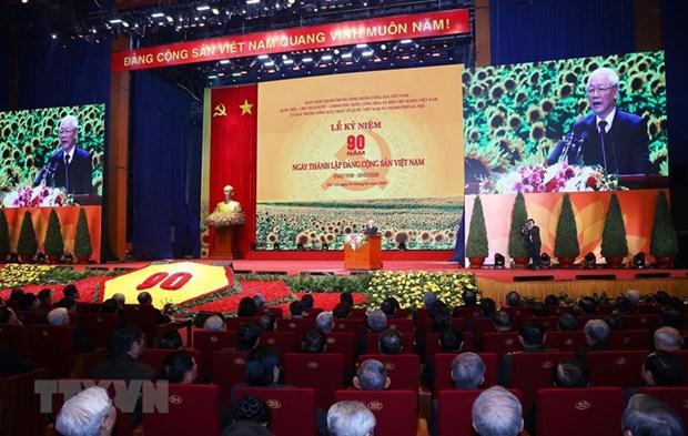 Acto conmemorativo en saludo al aniversario 90 de la fundación del Partido Comunista de Vietnam