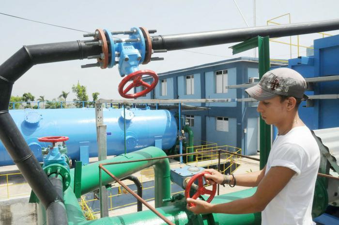 La potabilizadora Guaso entregará agua de más calidad a la parte sur de la ciudad de Guantánamo una vez concluida la rehabilitación de la red hidráulica. Foto: Leonel Escalona Furones