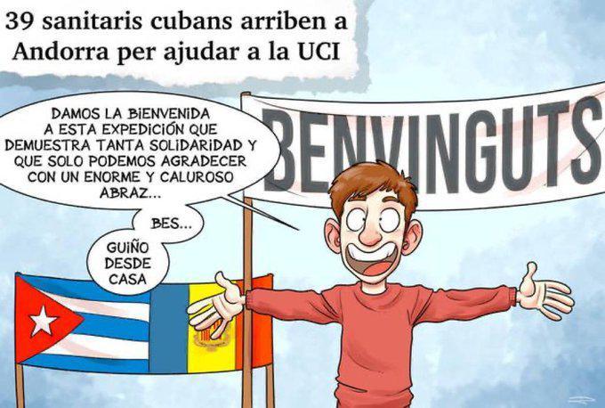 Médico cubano en Andorrra negativo en prueba del coronavirus