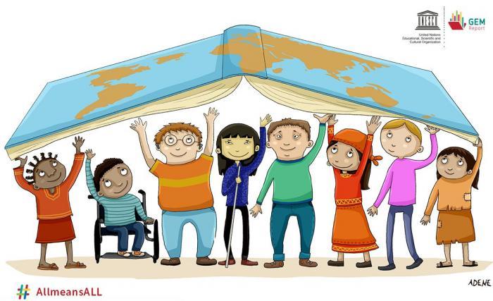 El Informe de Seguimiento de la Educación en el Mundo 2020 se titula «Inclusión y educación: todos, sin excepción». Foto: Unesco.
