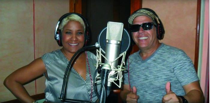 Wil Campa y Haila, al término de la sesión de grabación. foto: Timba por Siempre
