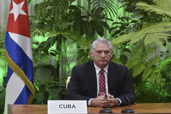 Cuba tiene «el compromiso de continuar garantizando la protección de los derechos de los trabajadores y avanzar en la construcción de un mundo más justo», afirmó el Jefe de Estado. foto: Estudios Revolución