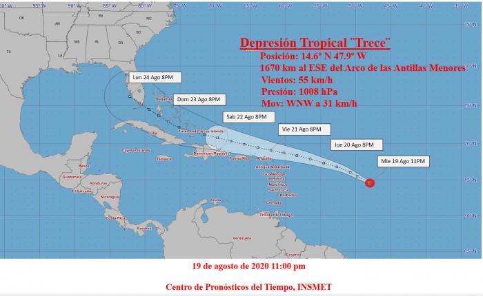 Dos ciclones tropicales en el área geográfica cercana a Cuba