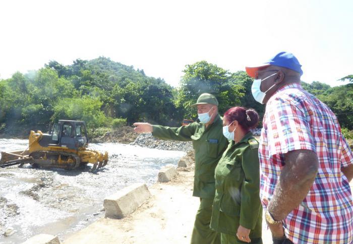 Constata Vicepresidente cubano recuperación de daños ocasionados por la tormenta tropical Laura