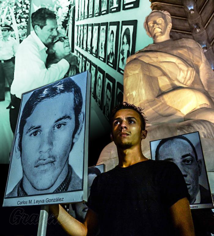 La Revolución en pie, el castigo peor para los terroristas Fotocomposicion de Carlos M Perdomo