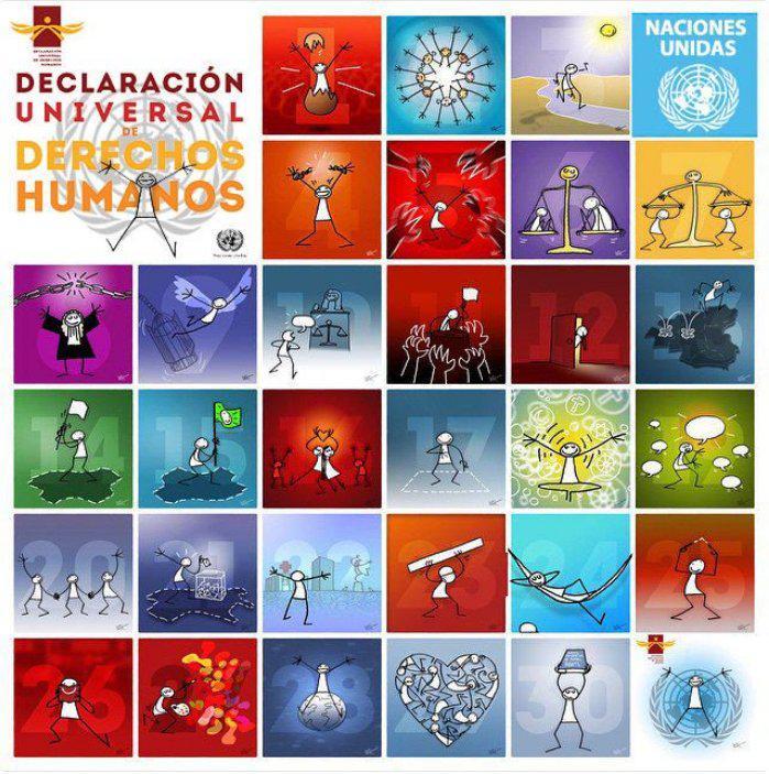 El 10 de diciembre de 1948, concluida la II Guerra Mundial, se firmó la Declaración Universal de los Derechos Humanos. Por ello, la ONU escogió ese día para señalarlo en el calendario de celebraciones