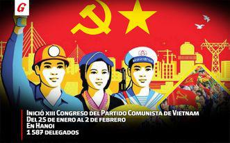 Partido Comunista de Cuba saluda XIII Congreso de su homólogo vietnamita
