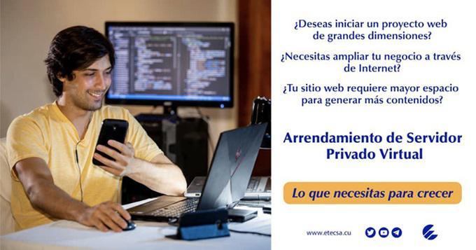 Empresa de Telecomunicaciones de Cuba ofrece nuevo servicio de alojamiento virtual