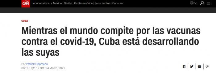Destacan medios de comunicación avances de Cuba en vacunas contra COVID-19