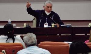 El Presidente de la República subrayó que, «para que se cumplan los propósitos, las proyecciones de este Congreso, el mayor desafío lo tienen los cuadros». FOTO: JUVENAL BALÁN