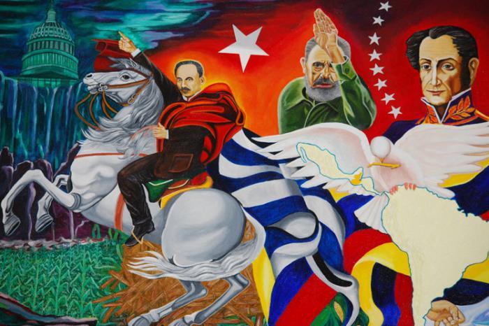 «Nuestra América sigue apostando por la integración», transmitió en un mensaje Díaz-Canel, en ocasión de la cumbre del alba-tcp. pintura Expuesta en la Cátedra José Martí de la Universidad de San Carlos de Guatemala