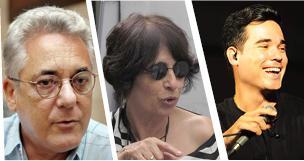 Virgilio López Lemus, Rebeca Chávez y Duani Ramos.