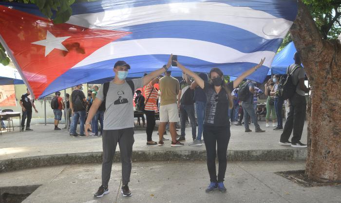 Actividad por el 5 de agosto de reafirmacion revolucionaria y de victoria de la juventud cubana.