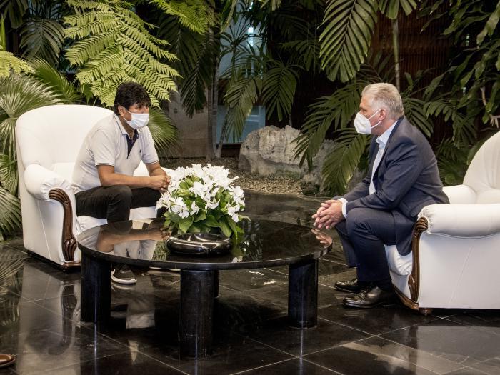 Encuantro Diaz Canel y Evo Morales