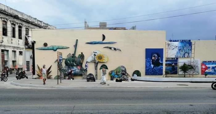 Mural colectivo en San Lázaro y Oquendo, Centro Habana.