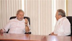 Raul und Lula besichtigten den Containerhafen von Mariel