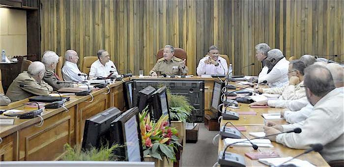 Sitzung des kubanischen Ministerrats