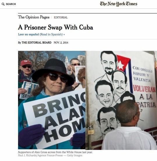 New York Times fordert Gefangenenaustausch mit Kuba