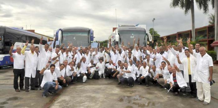 kubanische Ärzte und Krankenpfleger