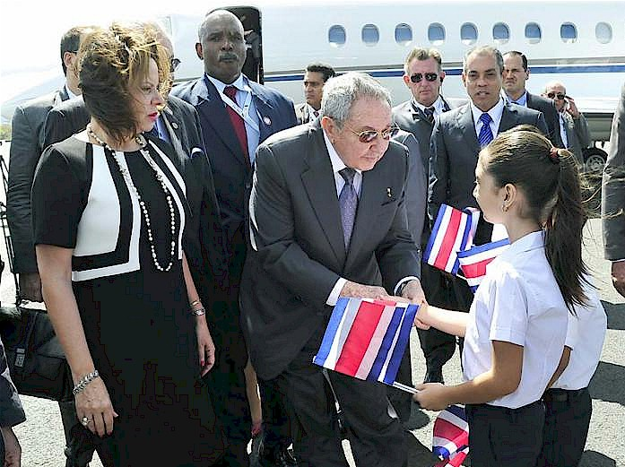 Raul Castro in  Costa Rica